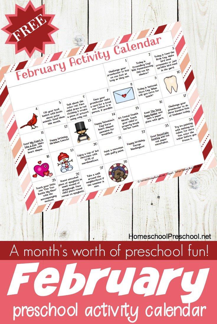D6fe684c9d881516748478 February Preschool Activity Calendar Pin