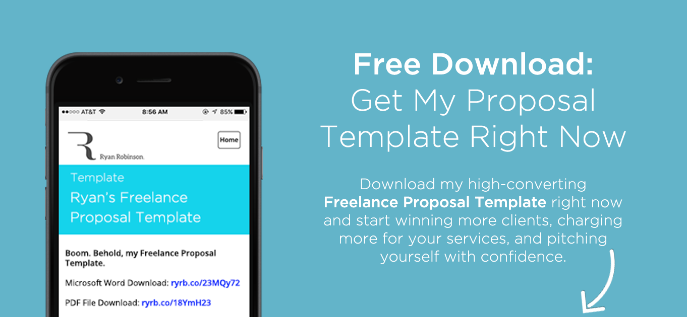 freelance proposal course free download popup with image - Free Proposal Template