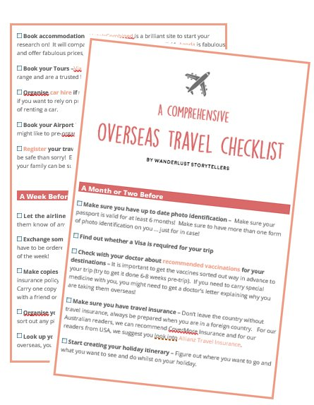 A Comprehensive Overseas Travel Checklist  Free Printable Travel