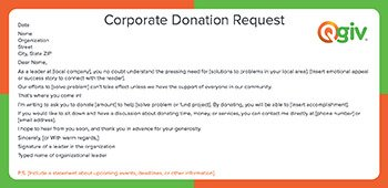 check out our corporate donation request fundraising letter template - Fundraiser Cover Letter